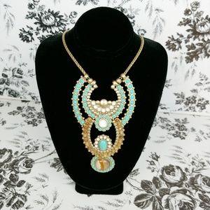 Lucky Brand semi precious horse shoe necklace